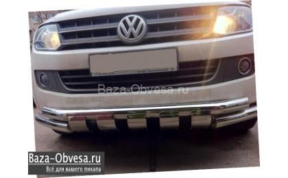 """Защита переднего бампера """"Shark"""" для Volkswagen Amarok"""