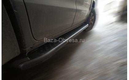 "Пороги AB004 ARTEMIS BLACK ""Doga Fiber"" на Volkswagen Amarok"