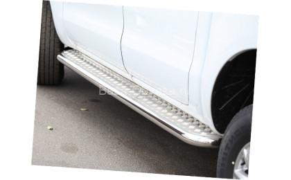 Пороги с листом из трубы для Ford Ranger до 2011г. выпуска