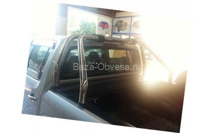 """Алюминиевая крышка кузова Rollback с дугами """"Afcarfiber"""" на пикап Ssang Yong Actyon Sports"""