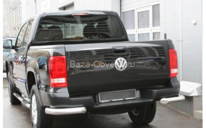 Защита заднего бампера уголки D76 на Volkswagen Amarok