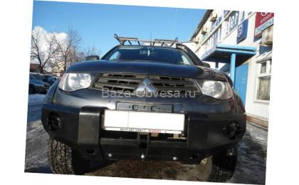 """Бампер передний усиленный из метала 3мм. """"DDR"""" на Mitsubishi L200 с 2006 до 2013г. выпуска"""