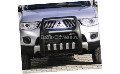 Защита переднего бампера Pasific для Mitsubishi