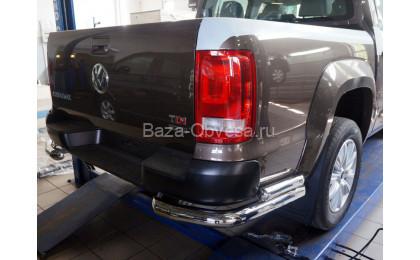 """Защита заднего бампера уголки """"Can Otomotiv"""" на Volkswagen Amarok"""