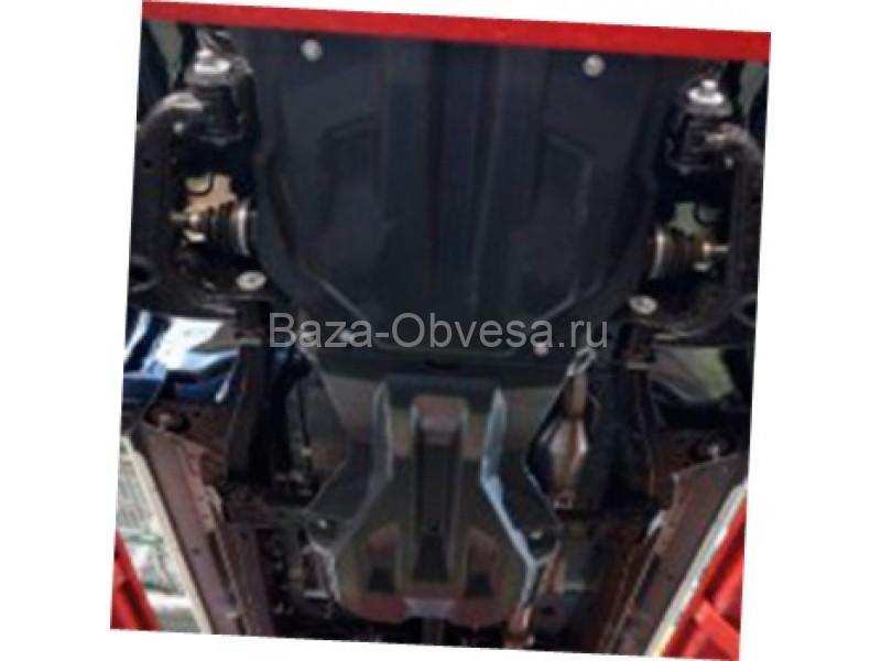 """Композитная защита двигателя """"АВС-Дизайн"""" на Toyota Hilux с 2011 до 2015г. выпуска"""
