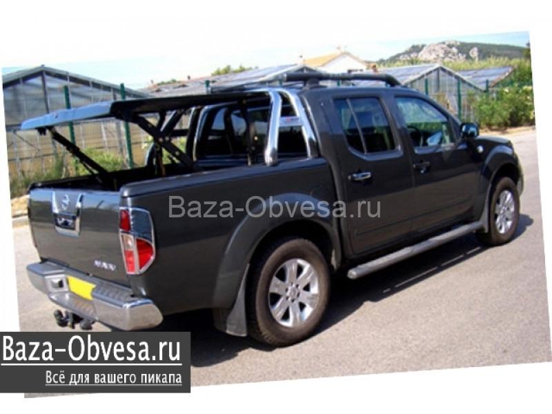 """Крышка кузова TS2 с дугами и рейлингами """"TopUp"""" на Nissan Navara"""