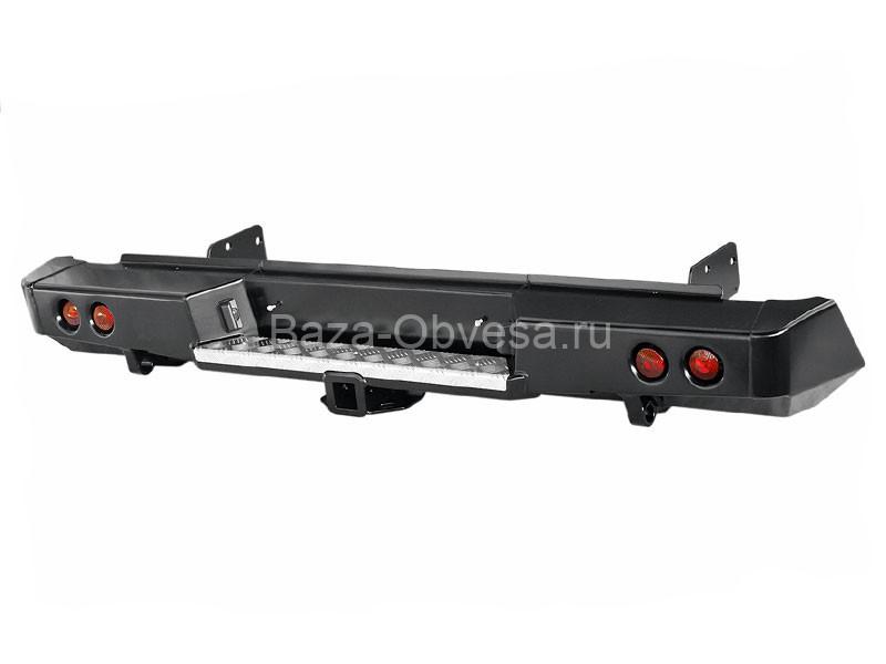 """Бампер передний усиленный с дополнительной оптикой и площадкой под лебедку """"DDR"""" на Mitsubishi L200 с 2015г. выпуска"""